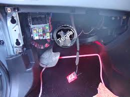 how to install foot well lights Vauxhall Zafira 54 Plate Fuse Box look just behind the fuse box and pull the top left hand side of the carpet back and you will see three looms there vauxhall astra 54 plate fuse box