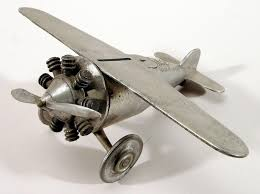 coin bank airplane model lindbergh king collection  national