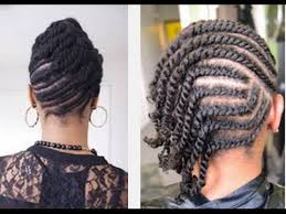 Twisted Hairstyles 26 Awesome Beautiful Easy Flat Twists Hairstyle On Natural Hair YouTube
