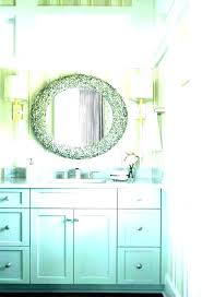 sea glass mirror beach bathroom mirrors style bathrooms themed sea glass mirror how to make a sea glass mirror