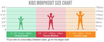 Morphsuit Size Chart