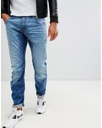 Arc 3d Slim Jeans Light Aged Arc 3d Slim Fit Jeans In Light Aged
