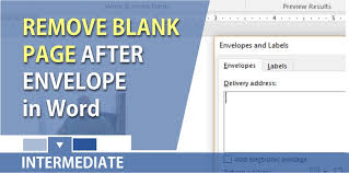 Word Remove The Blank Page After Inserting An Envelope
