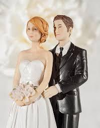 Paper Roses Wedding Cake Topper Custom Hair Colors Wedding