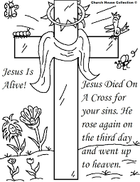 Jesus Coloring Pageseaster