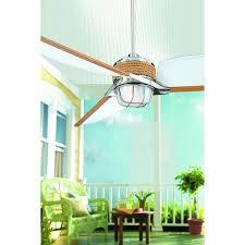 hampton bay escape 68 in brushed nickel indoor outdoor ceiling fan