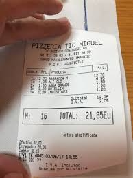 Miguel S Nutrition Chart Photo0 Jpg Picture Of Pizzeria Restaurante Tio Miguel