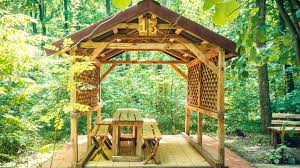 wooden pergola for 14 people 13