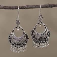 sterling silver chandelier earrings decadence artisan sterling silver chandelier earrings from india