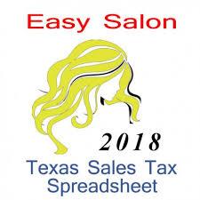 Texas Salon Accounts Sales Tax Spreadsheet For 2018 Year End