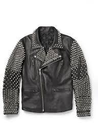 men studded leather jacket