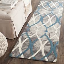 rugs curtains interesting grey blue rug runner for awesome