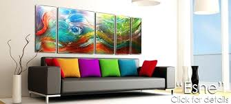 colorful metal wall art painted by tree fish outdoor