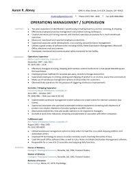 Maintenance Supervisor Resume Sample Fascinating Resume Professional Supervisor Resume Objective Examples Example