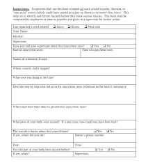 Employee Incident Report Template Doc Forms Reporting Form I