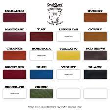 Fiebings Leather Dye Colour Chart