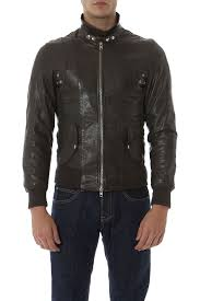 rione fontana brown leather jackets for men autumn winter 14 15