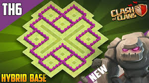 Clash Of Clans Th6 Base Design New Best Th6 Trophy Hybrid Defense Base 2018 Coc Town Hall 6 Hybrid Base Design Clash Of Clans