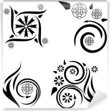 čtyři Květinové Vzory Tetování