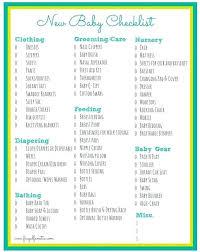 Printable Baby Checklist Newborn 2018 Studiorc Co