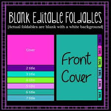 Editable Foldable Templates Book Templates Flip Book Tab Book Spanish 2 Pinterest