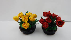 Paper Quilling Flower Bokeh Quilling Table Decoration Bouquet Of Roses 1 Diy Red Yellow Quilling Roses