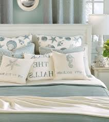 light blue beach themed bedding with nightstand for nice bedroom decoration ideas