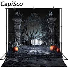 Capisco <b>Mysterious Forest</b> Old Trees <b>Halloween Backdrop</b> Pumpkin ...