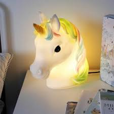 Unicorn Head Table Lamp