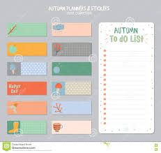 to do lists templates cute daily calendar and to do list template stock vector image