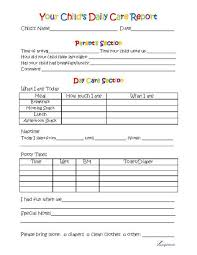 Free Printable Sign In Sheets Delectable Toddler Day Care Report For My School Pinterest Childcare