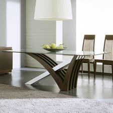 glass dining table base. Cool Dining Room Decoration With Glass Table Design : Lovely Small Modern Base