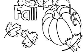 Small Picture Autumn Coloring Pages With Pumpkin For Kids Seasons At Fall