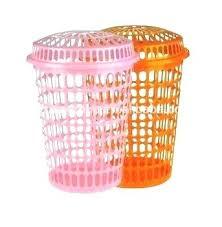 Pink Plastic Laundry Basket Inspiration Pink Plastic Laundry Basket Large Colorful Plastic Laundry Baskets