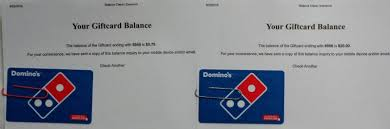 2 domino s pizza gift cards totaling 20 79 1 of 1