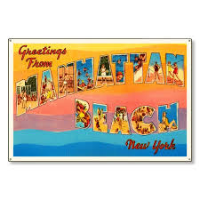 manhattan beach new york ny old retro