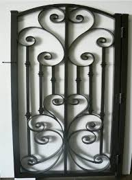 decorative garden gates. Decorative Garden Gate In The Same Design With Solid Color Gates