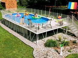 Above Ground Swimming Pool Semi Inground Pools Above Ground