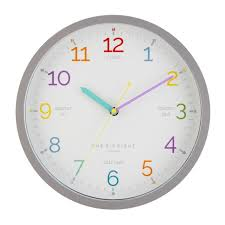 learn the time wall clock silent
