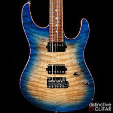 BRAND NEW SUHR CUSTOM MODERN GUITAR WITH QUILTED MAPLE TOP IN BLUE ... & Image is loading BRAND-NEW-SUHR-CUSTOM-MODERN-GUITAR-WITH-QUILTED- Adamdwight.com