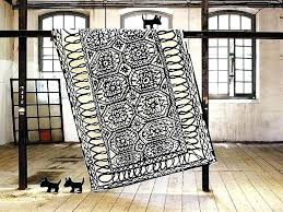 black and white rug interesting black and white rug black white chevron runner rug