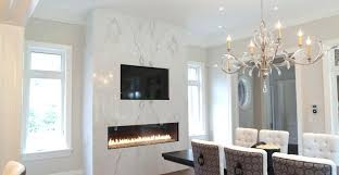 fireplace surround ideas best stone choices installation and tips outdoor lighting