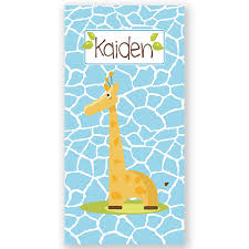 Giraffe Beach Towel Kids Beach Towel Personalized Bath or Beach