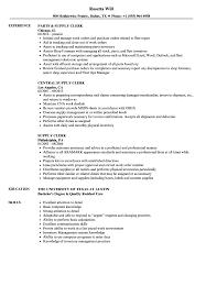 Supply Clerk Sample Resume Supply Clerk Resume Samples Velvet Jobs 3