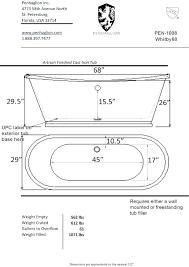 standard clawfoot bathtub size bathtub ideas