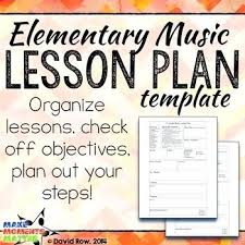 Elementary Music Lesson Plan Template Sample – Bbfinancials.info