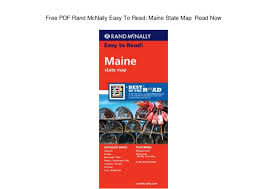 Free Pdf Rand Mcnally Easy To Read Maine State Map Read Now
