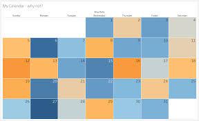 Calendar Chart In Tableau Tableau Calendar Leon Agatić Medium