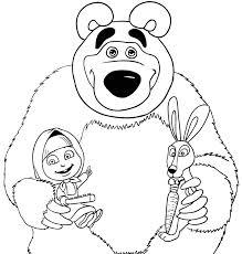 Disegno Masha Da Colorare Cartoni Animati Con Masha E Orso Da