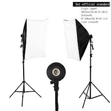 photography studio 2x135w soft box continuous lighting softbox light stand kit aliexpress mobile
